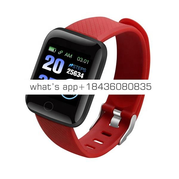 116 Plus Smart Watch Wristband Sports Fitness Blood Pressure Heart Rate Call Message Reminder Android IOS Pedometer Smartwatch