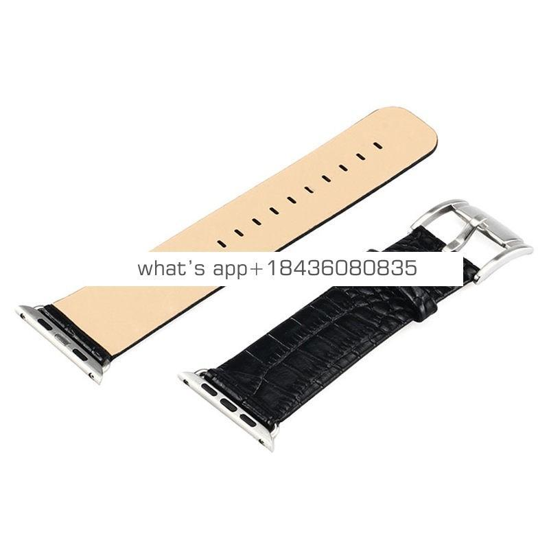 12 Colors Replacement Bracelet Crocodile Pattern Strap Genuine Leather Band for Apple Watch iWatch Series 3