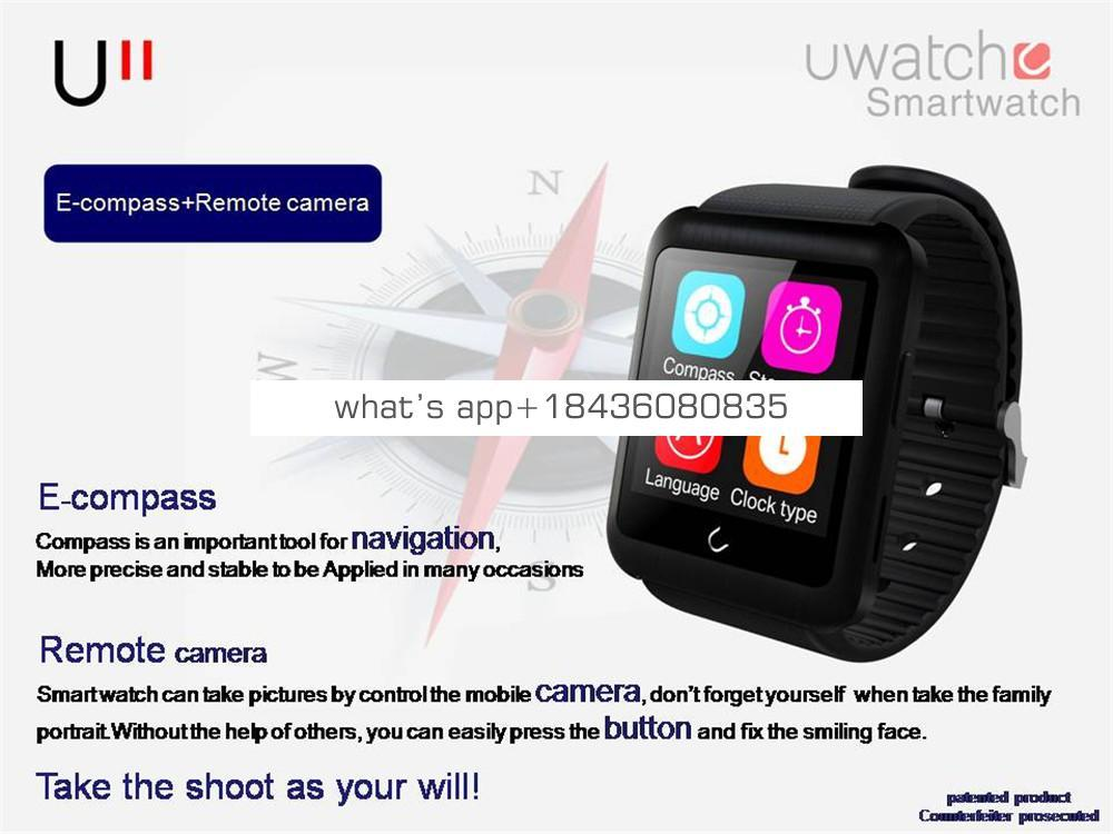 2015 newest heart rate smart BTwatch 24 hours tracking health monitor watch intelligent alarm support