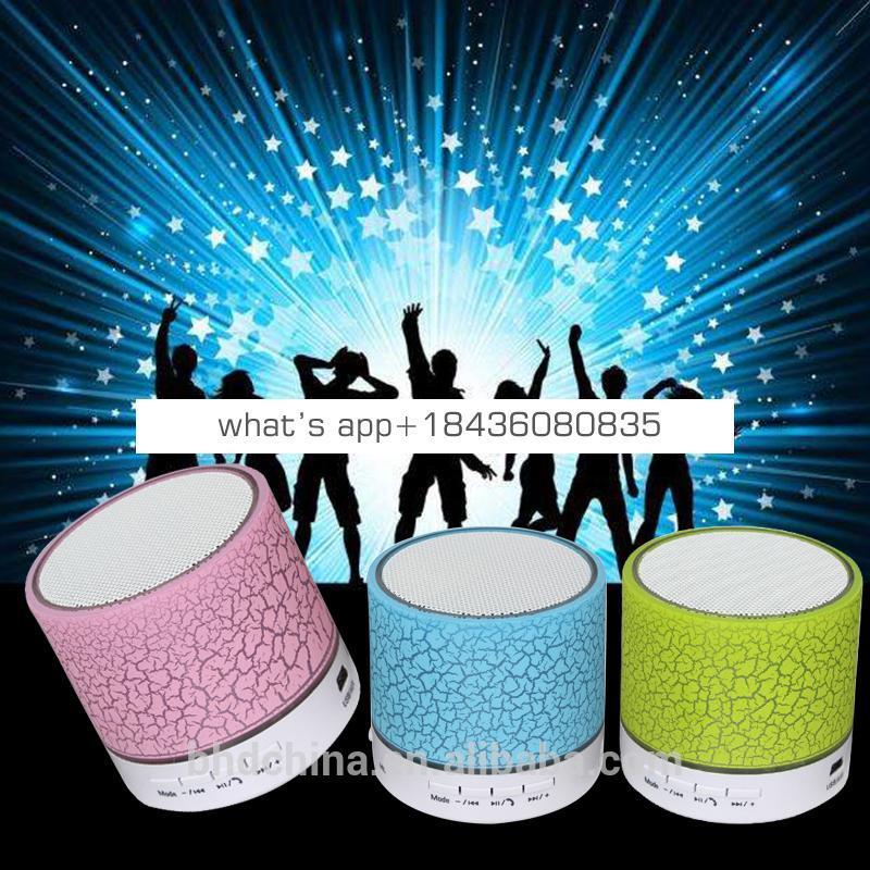 2017 Portable LED Waterproof Speaker Mini Wireless Speaker S10 for Car Audio with FM Radio