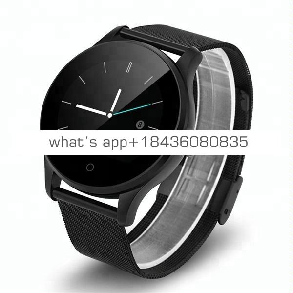 2018 Hot Sale Heart Rate Monitor K88H Smartwatch Smart Watch with Replaceable Metal Strap And Leather Strap