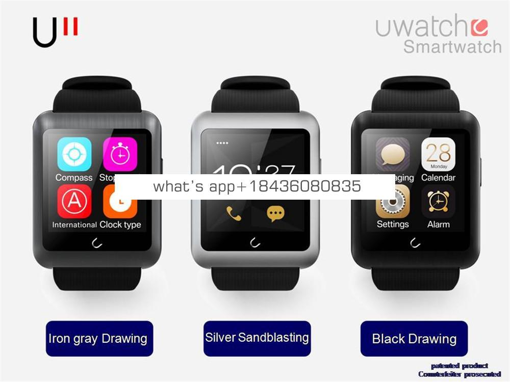 2018 Hot Selling BT Smartwatch U11 Smart Watch For Android Phone Smartphones Android Wear 3 Colors