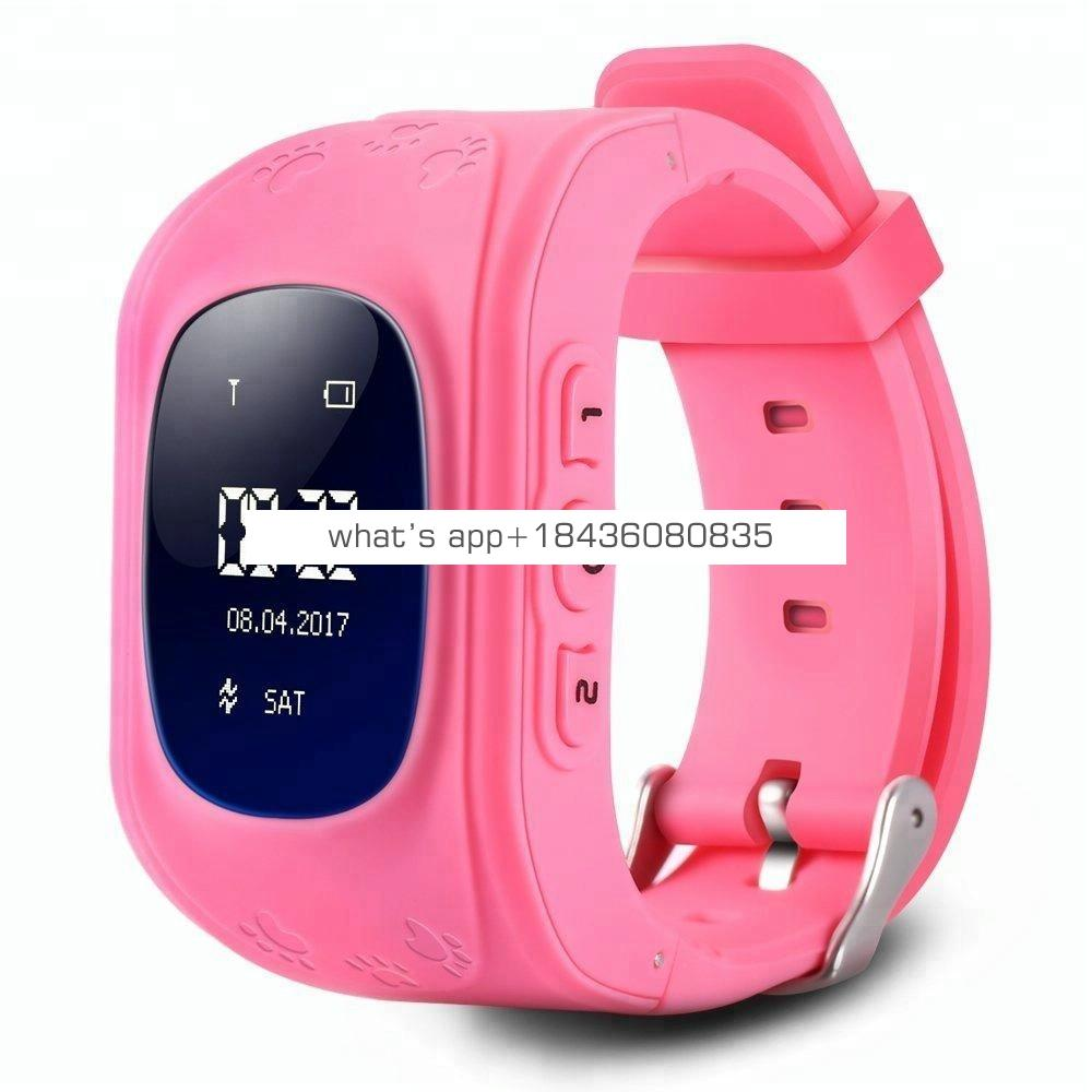 2018 Hot Selling LCD OLED Q50 Sim Card Kid Watch Smartwatch GPS Tracker Anti-Lost SOS Kids Smart Watch with Facoty Price