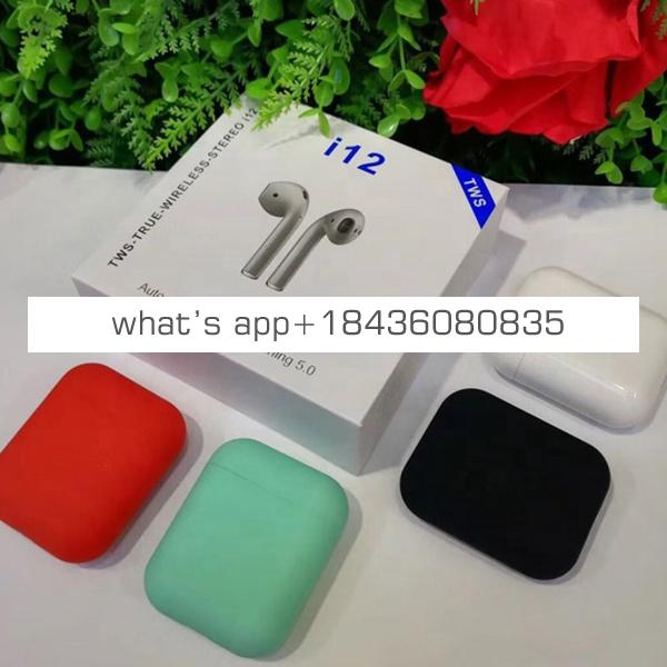 2019 New i11 i12  i18 TWS Hot Selling Colorful BT 5.0 Sport True Wireless Stereo Touch Earbuds Headphone Earphone