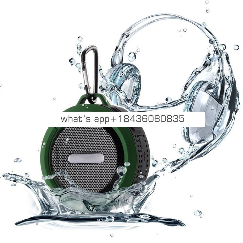 2019 Trending Products Wireless Car Bluetooth Speaker Outdoor Sport Portable C6 Waterproof Speaker
