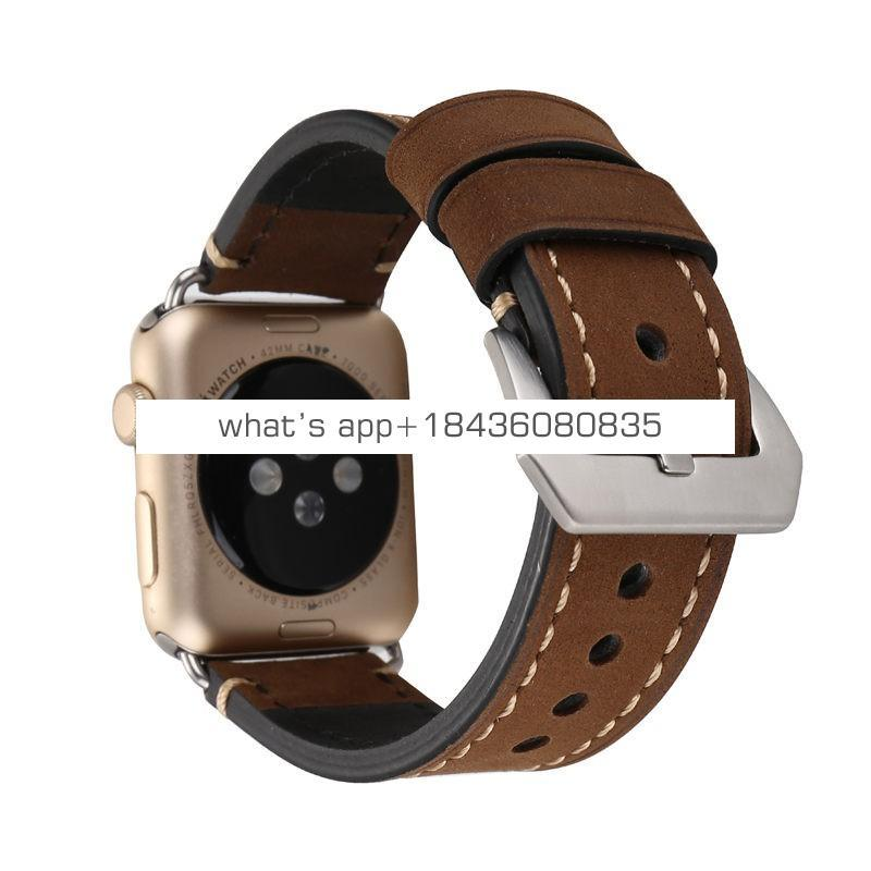 3 Colors 38mm 42mm Accessories Genuine Leather Watch Wristband for Apple Watch iWatch Series 3