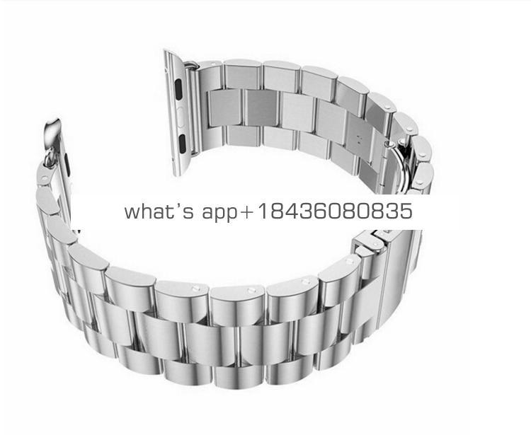 4 Colors Stainless Steel Replacement Strap Classic Buckle Watch Wrist Band for Apple Watch Series 3 Sport