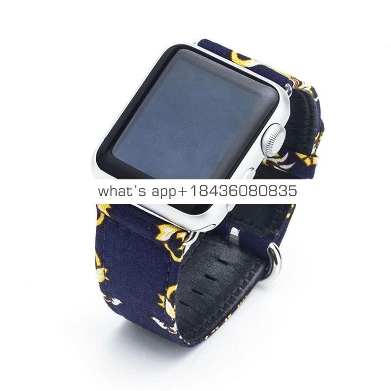 7 Colors 38mm 42mm National Style Bracelet Replacement Strap Genuine Leather Wrist Band for Apple Watch iWatch Series 3