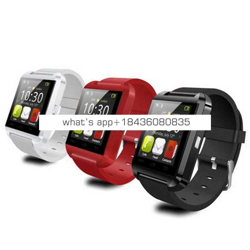 Amazon Hot Selling U8 Bluetooth Smartwatch Wristwatch Touch Screen Smart Watch for Android Smart Phone
