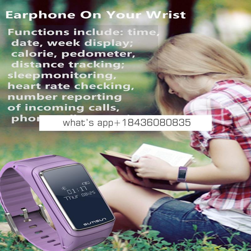 BTwear Hot 2 in 1 Smart Talk Band heart rate monitor Smart Bracelet For Android and IOS Smart Watch Band Y3 smart wristband