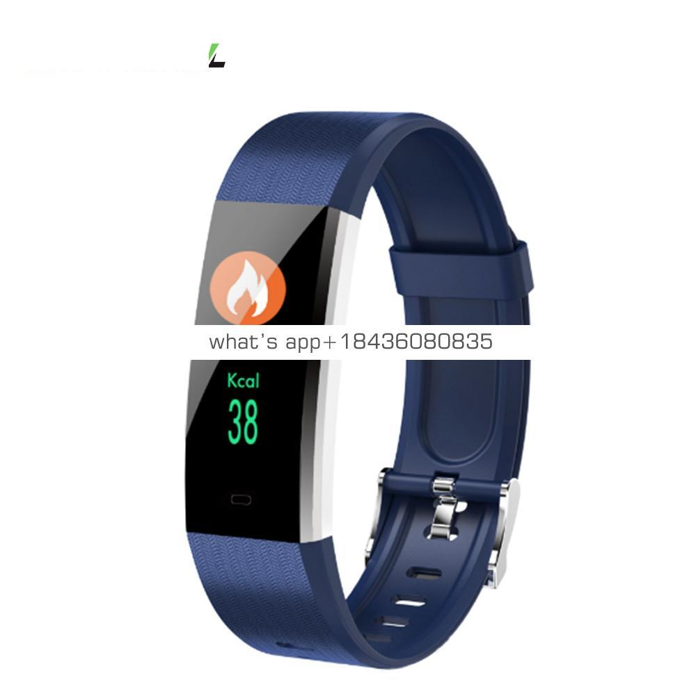 Best Seller 115 Plus Smart Bracelet Blood Pressure Heart Rate with Reminder