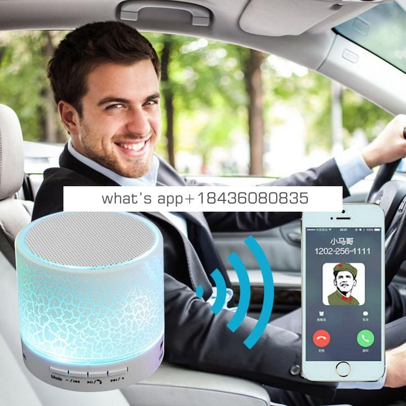 Bluetooth LED Mini Wireless Speaker S10 TF USB FM Portable Musical Audio waterproof Speaker