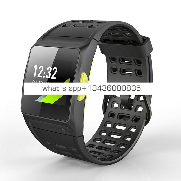 Build-in GPS Sports Watch 50 meters Waterproof Smart Wristband Dynamic Heart Rate Monitor ECG Monitor P1 Smart Bracelet Watch