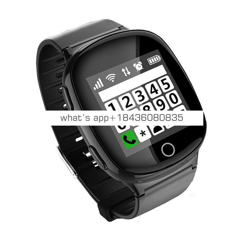 Ce  approved  SOS Panic Button Adult Kid Elder People Heart Rate Monitor GPS Tracking Communicator Tracker Smart Watch