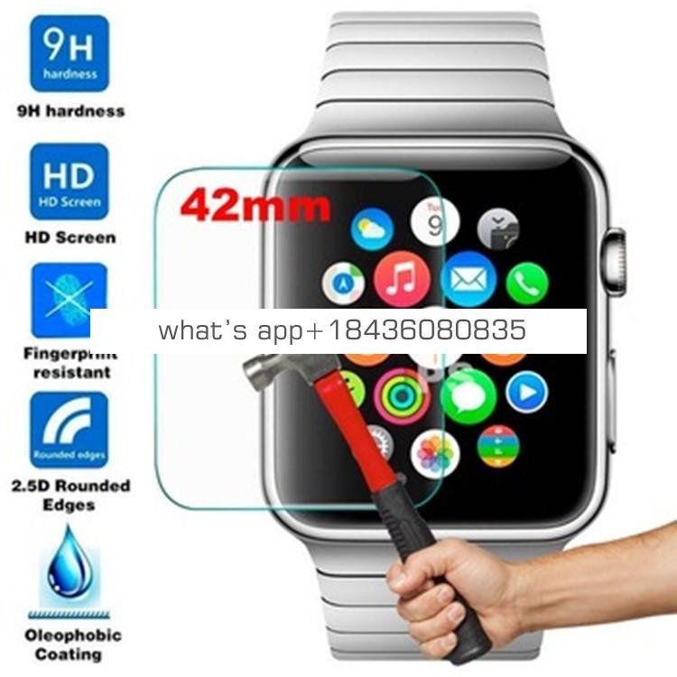 Cheap Hyaline Tempered Glass Screen Protector Clear Full Screen for Apple Watch iWatch Series 3 Screen