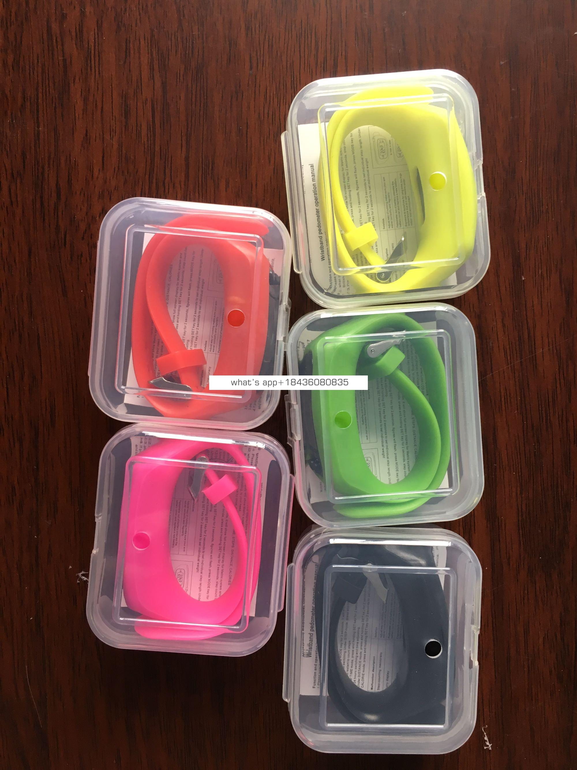 China Manufacturer CE Rohs Step Calorie Count Smart Watch Band Smart Bracelet Fitness Tracker 2D 3D Pedometer
