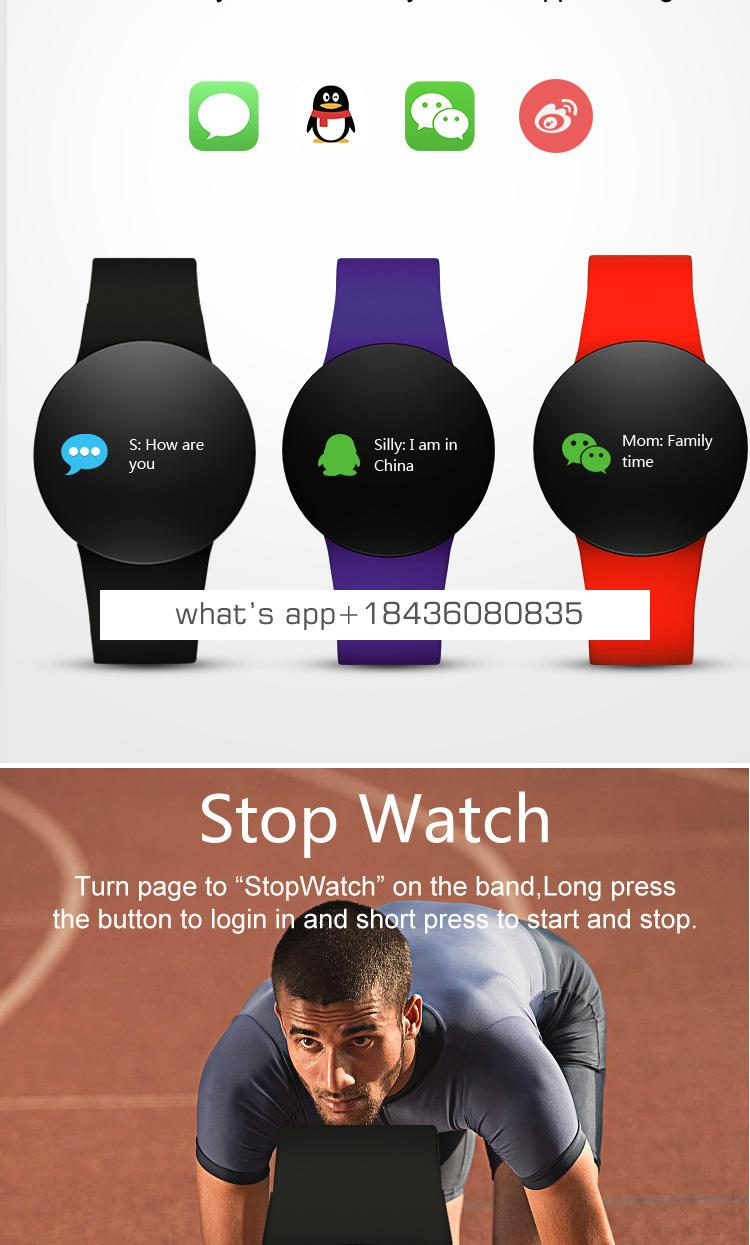 Dual-USB quick charge fitness wristband hr blood pressure sport tracker waterproof IP68 smart watch smart phone accessories 2019
