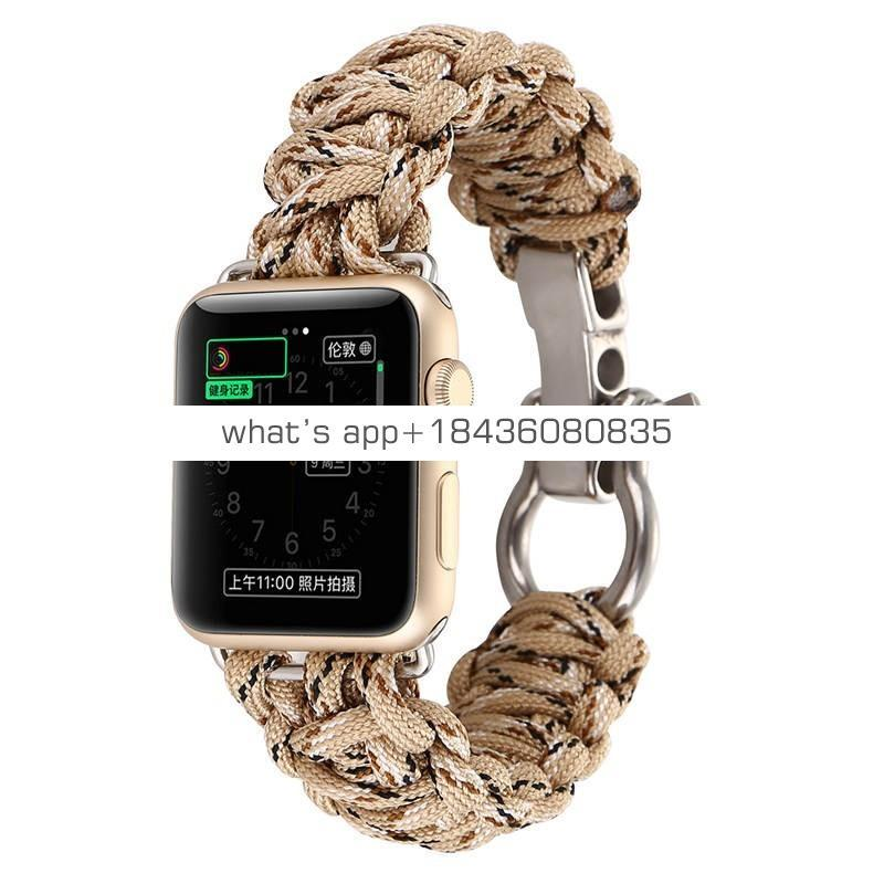 Durable Paracord Replacement Rescue Ropr Paracord Strap Band for Apple iWatch Series 3