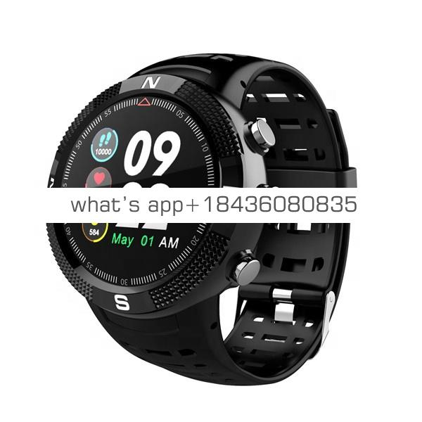 F18  ip68 GPS  Heart Rate Monitor Sport Smart Watch Adult Round Smart Watch for Android and IOS phone