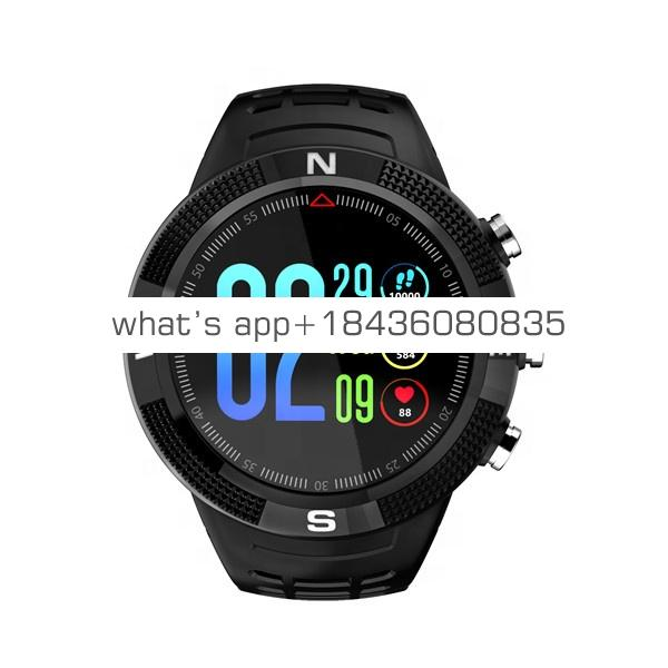 F18 3D Screen Smartwatch Sports Bluetooth 4.2 IP68 Waterproof Smart Watch GPS Call Message Reminder Pedometer Sleep Monitor
