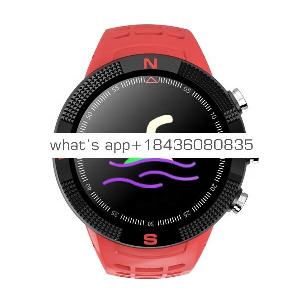 F18 smart watch GPS IP68 waterproof Bluetooth 4.2 fitness tracker multi-function watch support Android IOS