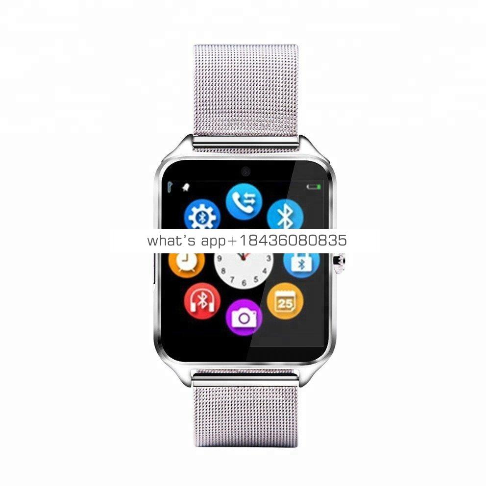 Hot Bluetooth Smart Watch Phone Z60 Stainless Steel Support SIM TF Card Anti-Lost Fitness Tracker Smartwatch for Android