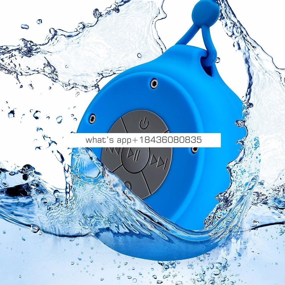 Hot Selling Portable Waterproof Music Wireless Speaker, Factory Price Shower Speaker with Sling Lanyard