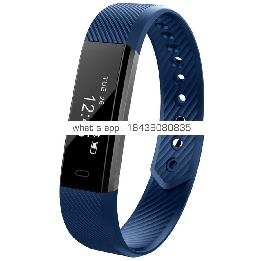 ID115 cheap gift china sports BT bracelet, fitness band with pedometer