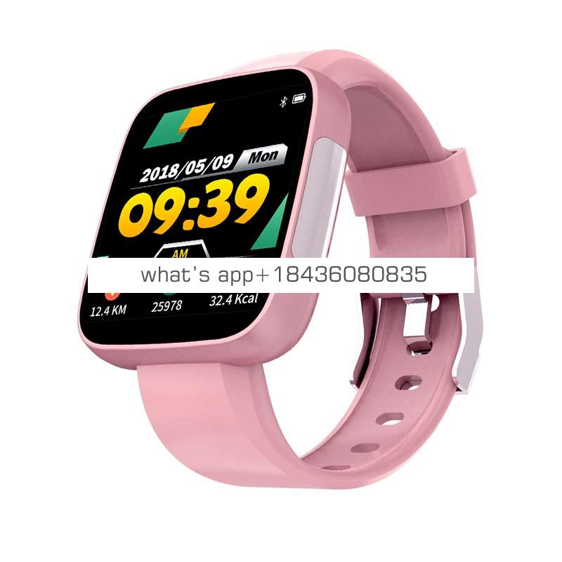 Latest T5 ECG+PPG  heart rate smartwatch  fitness wristband notification reminder fitness tracker