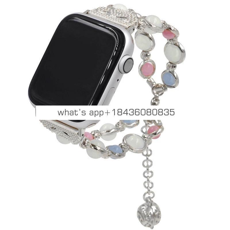 Luminous Jewelry Bead Bracelet Band for Apple Watch
