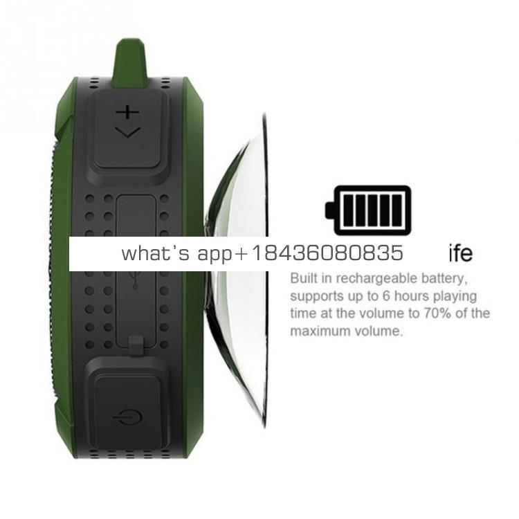 Mini Portable Wireless Waterpoof Shower Speaker C6 with FM Radio Handsfree Speakers