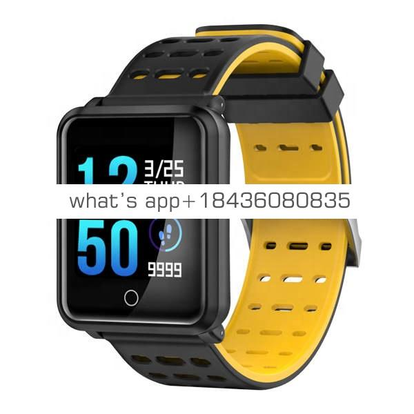 New Bluetooth 4.2 Smart Watch IP68 Waterproof Heart Rate Blood Pressure Monitor Wrist Smartwatch Bracelet for iPhone Xiaomi