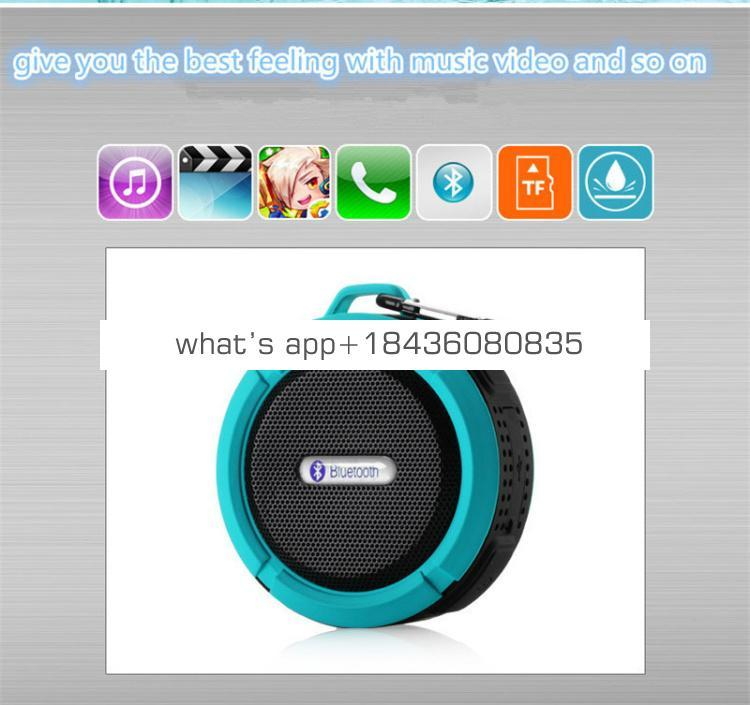New Product 2019 Portable Wireless stereo 4.0 Waterproof Outdoor & Shower Mini bluetooth Speaker with 5W Speaker Suction