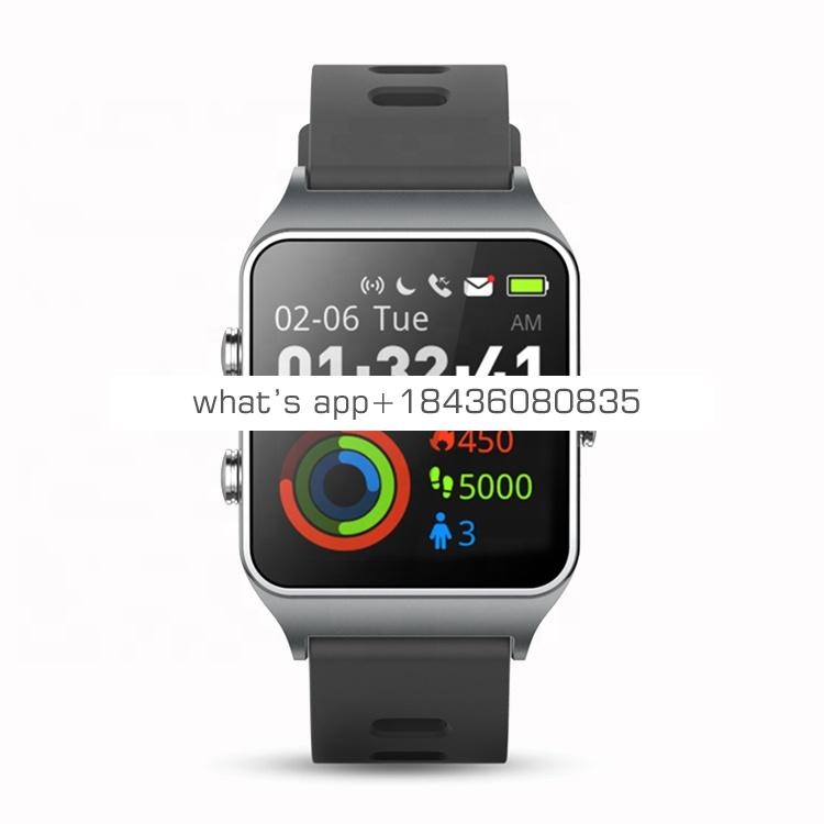 New Version  IP68 Waterproof IPS Color Screen Fitness Tracker P1C Swimming GPS Sports Watch HR Monitoring Bluetooth Smart Watch