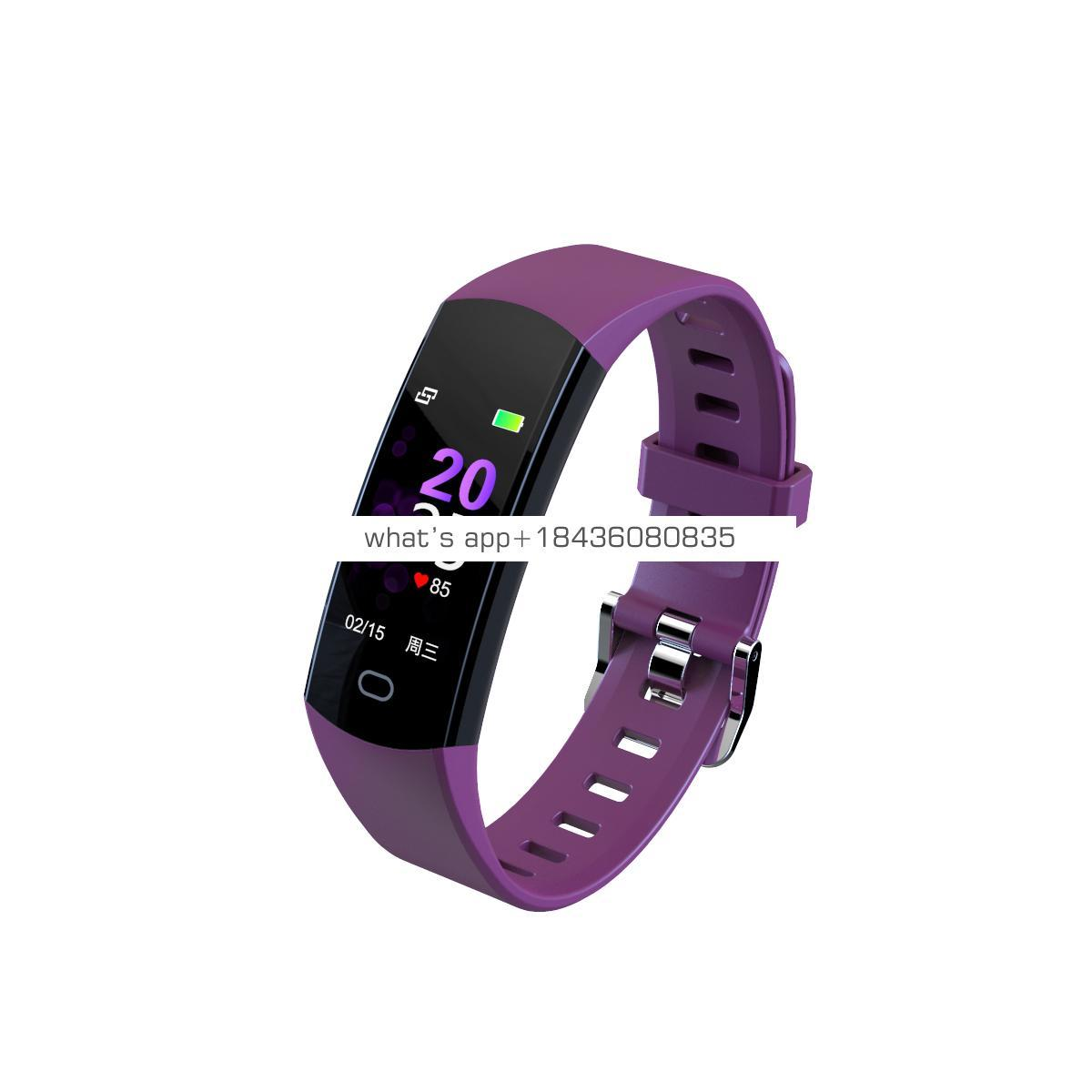 New design android waterproof 30m heart rate blood pressure large screen smart watch long standby usb charge for excise