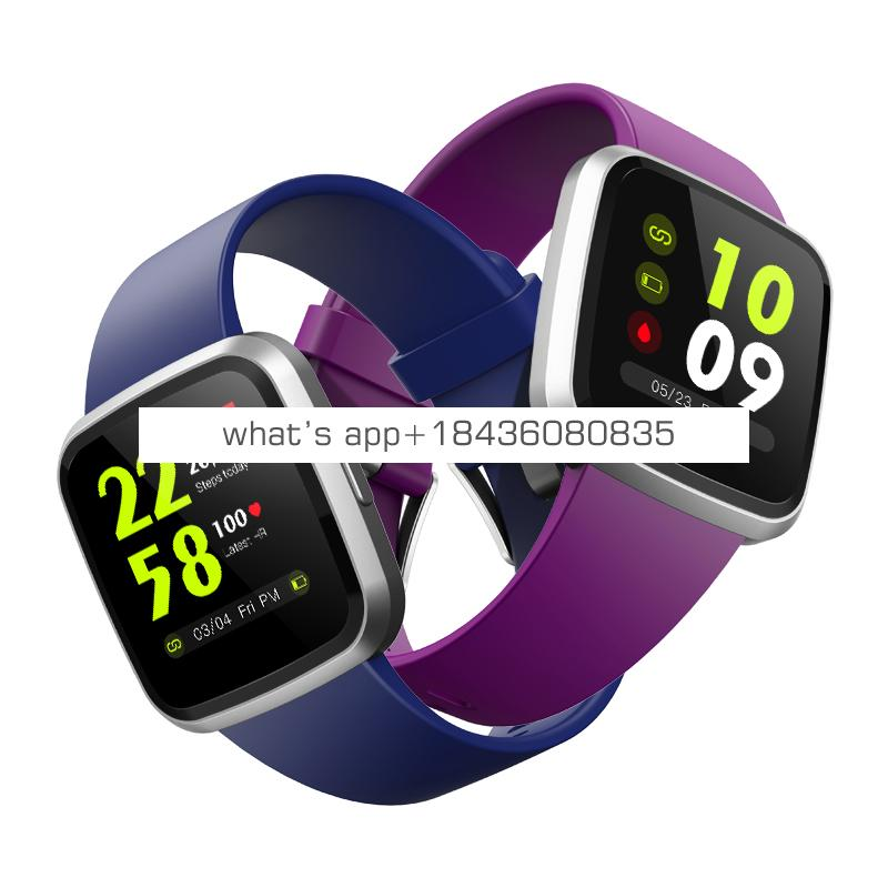 Nice design V12 fitness watch full touch 1.3 inch IPS Smart bracelet SPO2 heart rate Monitoring Smartwatch with CE,ROHS,FCC