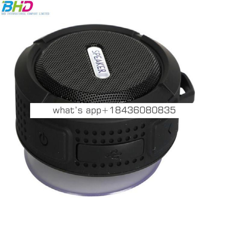 Portable Subwoofer Shower Waterproof Wireless Mushroom Mini Speaker Car Handsfree Receive Call Music Suction Mic