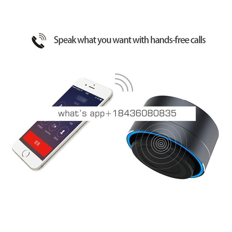Private label Portable Mini Subwoofer Metal led a10 wireless Speaker