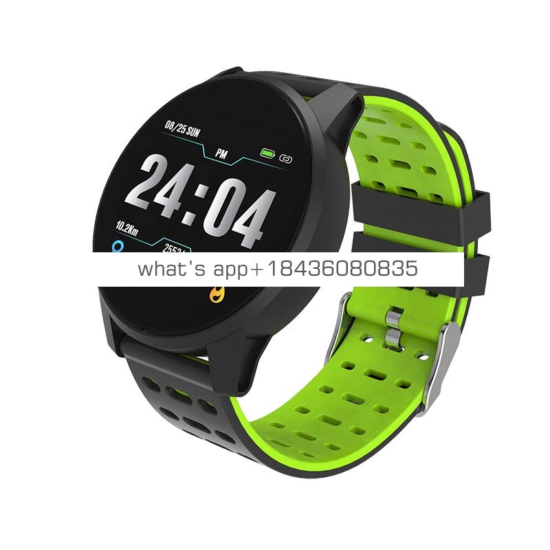The silicone strap Leisure Smart Bluetooth smart  Watch Men Multi Functional For IOS Android System