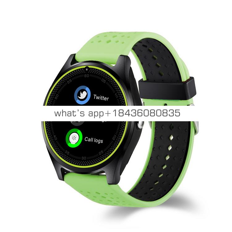Touch Screen Bluetooth Camera Tf Sim Card Smartwatch SMS Push Notification V9 Round Smart Watch