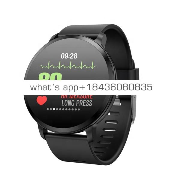 V11 Smart Watch IP67 Waterproof Tempered Glass Activity Fitness Tracker Smart band Heart Rate Monitor Bracelet for Men and Women