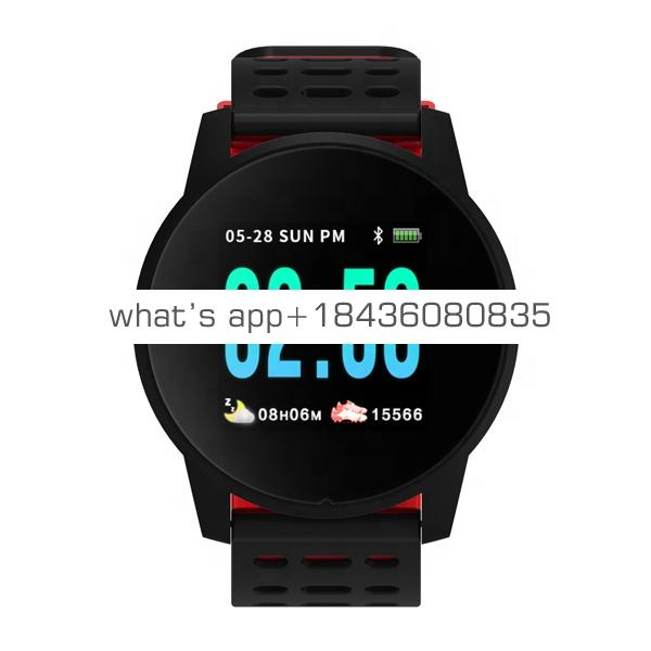 W1 Smart Watch Men Blood Pressure Heart Rate IP67 Waterproof Fitness Tracker Clock Smartwatch For IOS Android Wearable Devices