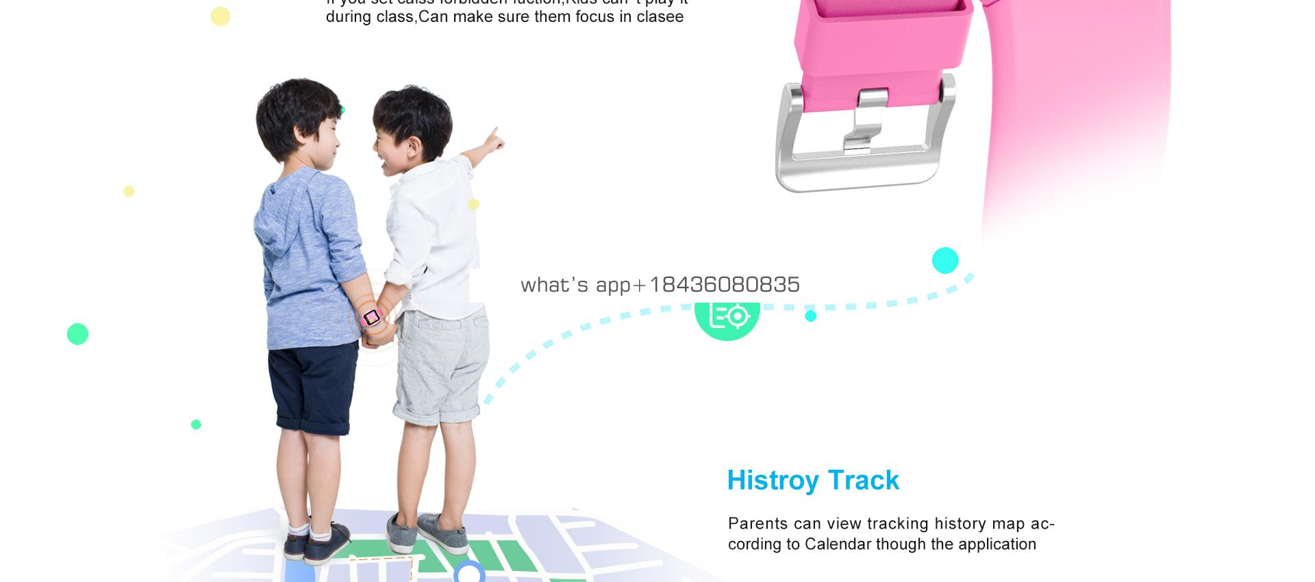 Wholesale Children's Waterproof   sos SmartWatch For Kids With Gps And Phone