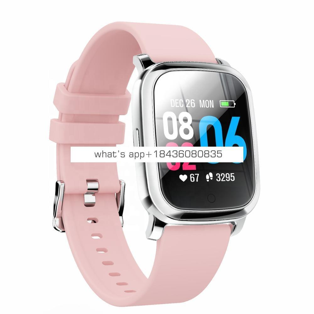Wholesale cheap health blood pressure heart rate monitor square smart bracelet watch fitness tracker with large screen