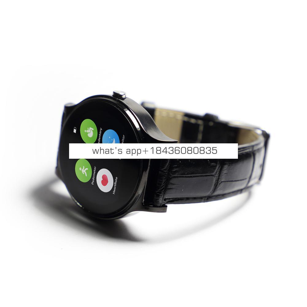 fashionable round design touch screen smart watch with multi language smartwatch