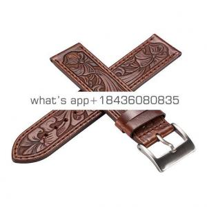 2 Colors 38mm 42mm Luxury Relief Replace Three-Dimensional Strap Embossment Bracelet Bump Leather Wrist Band for Apple Watch