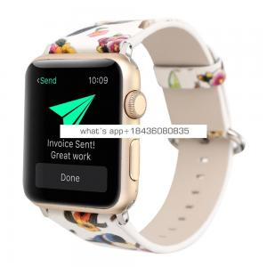 2017 New Flower Bird Women Cute Leather Band for Apple Watch Series 1 2 3