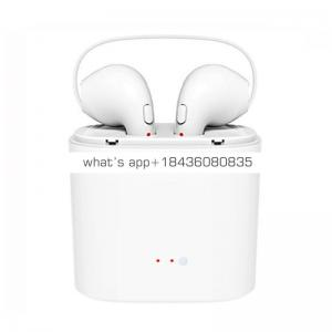2018 Newset Fashion BT 4.2 HBQ i7S TWS Wireless Earbuds Blue Tooth Earphone with Charging base for IPhone