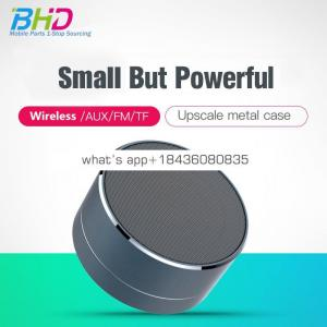 2018 Trending Products Portable LED Waterproof Speaker Mini Wireless Speaker A10 for Car Audio with FM Radio