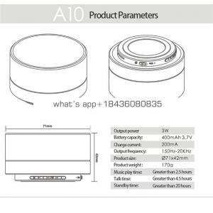 2018 promotional gift oem waterproof wireless speaker portable mini A10 speaker